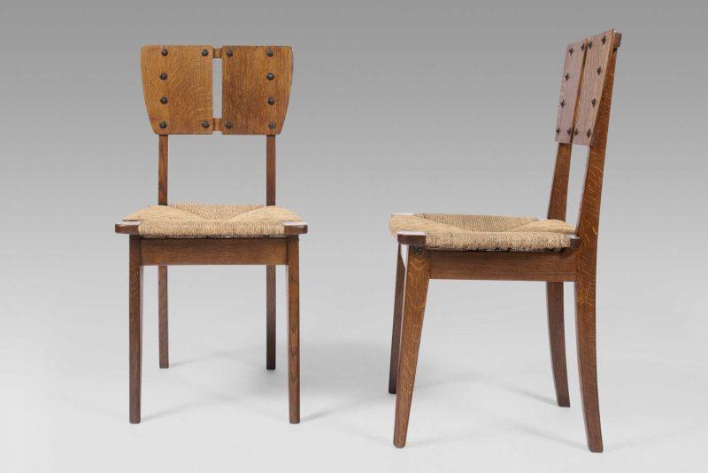 Gustave Serrurier-Bovy <span>Paire de chaises </span>