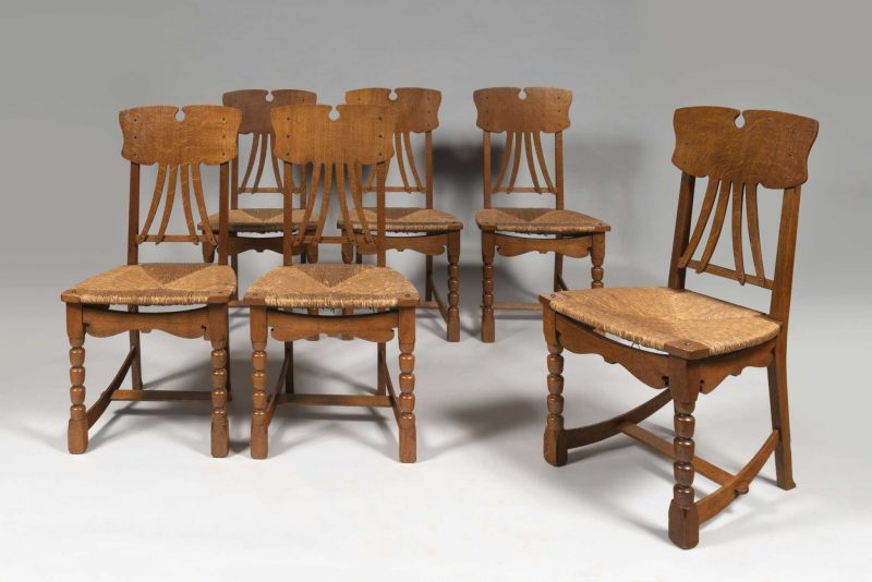 Gustave Serrurier-Bovy <span>Série de six chaises «Artisan» </span>